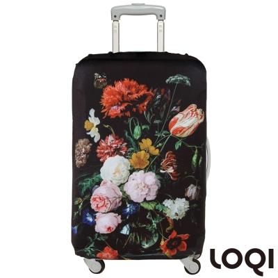 LOQI 行李箱套│花團錦簇L號 適用28吋以上行李箱保護套