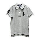 Ralph Lauren 男童數字3經典大馬短袖POLO衫-灰色