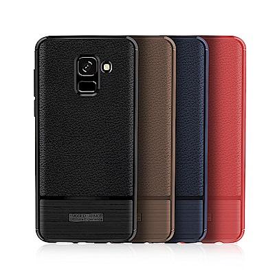 VXTRA 三星 Samsung Galaxy J6 防滑手感皮紋 軟性手機殼