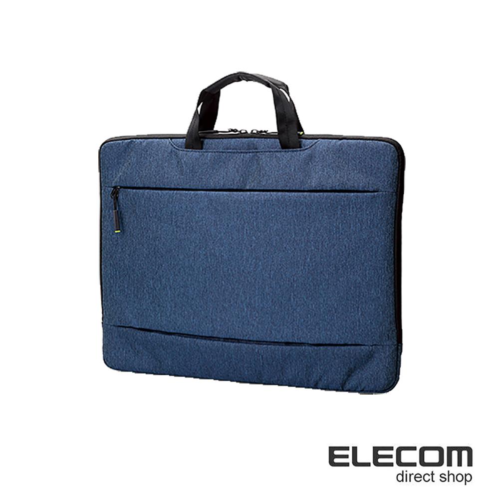 ELECOM 輕便型休閒收納包-15.6吋藍
