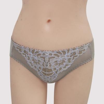 曼黛瑪璉-雙弧絲蛋白  低腰三角萊克褲(粉彩灰)