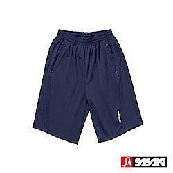 SASAKI 快速排汗伸縮功能針織網球短褲-男-淺丈青/艷黃