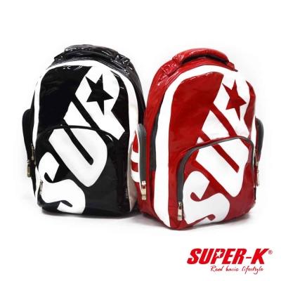 SUPER-K。酷炫亮面手提包/後背包-二用運動包(SHX21629)