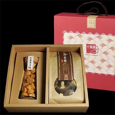 十翼饌 上等海陸臻賞禮盒-宗谷干貝(SA100g)+新社香菇(100g)