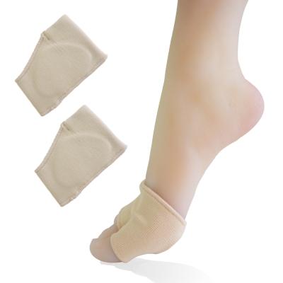 足的美形 螺紋透氣矽膠套指式前掌套(1雙)