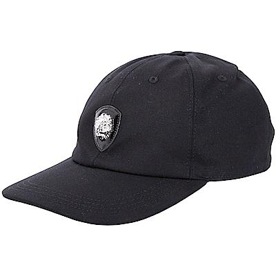 Versus Versace LION 經典立體獅頭徽章棒球帽(黑色)