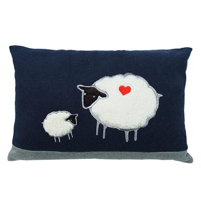 Yvonne Collection綿羊30x45cm方形抱枕-丈青