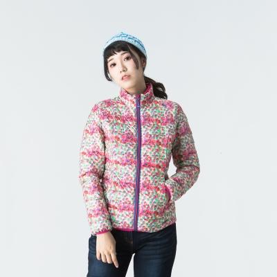 ATUNAS 歐都納 女款時尚羽絨外套 A-G1648W 彩色點點