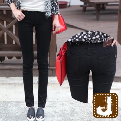 正韓 低腰素黑彈性顯瘦窄管-(黑色)100%Korea Jeans