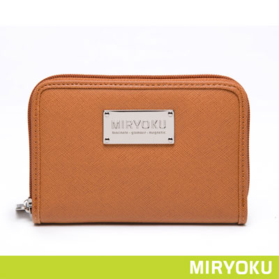 MIRYOKU-質感斜紋系列-氣質零錢袋拉鍊中夾