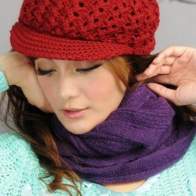 Aimee Toff 造型用反摺變化輕盈圍脖(紫)