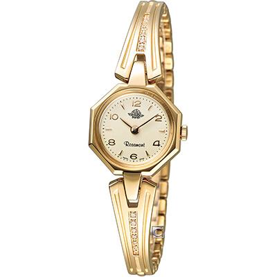 Rosemont 玫瑰錶骨董風玫瑰系列VII 時尚腕錶-金色/21x21mm
