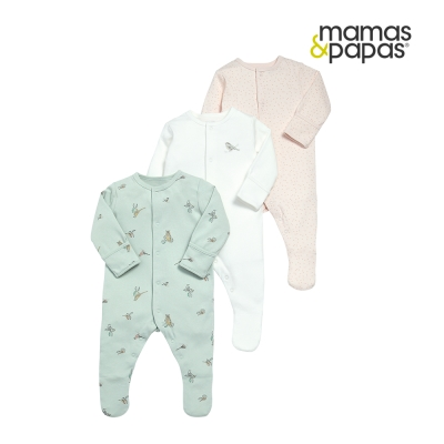 Mamas & Papas WTTW 小喜雀連身衣3件組