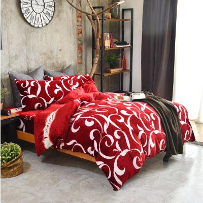 Grace Life 光彩永恆 單人法蘭絨被套毯鋪棉床包三件組