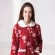 羅絲美睡衣 - 聖誕氣氛雪花暖冬褲裝睡衣 (聖誕紅) product thumbnail 1