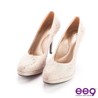 ee9驚豔美人-優雅簡約典弧度夢幻晶鑽百搭細高跟鞋