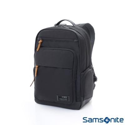 Samsonite新秀麗 Avant極輕盈耐磨簡約筆電後背包(黑)