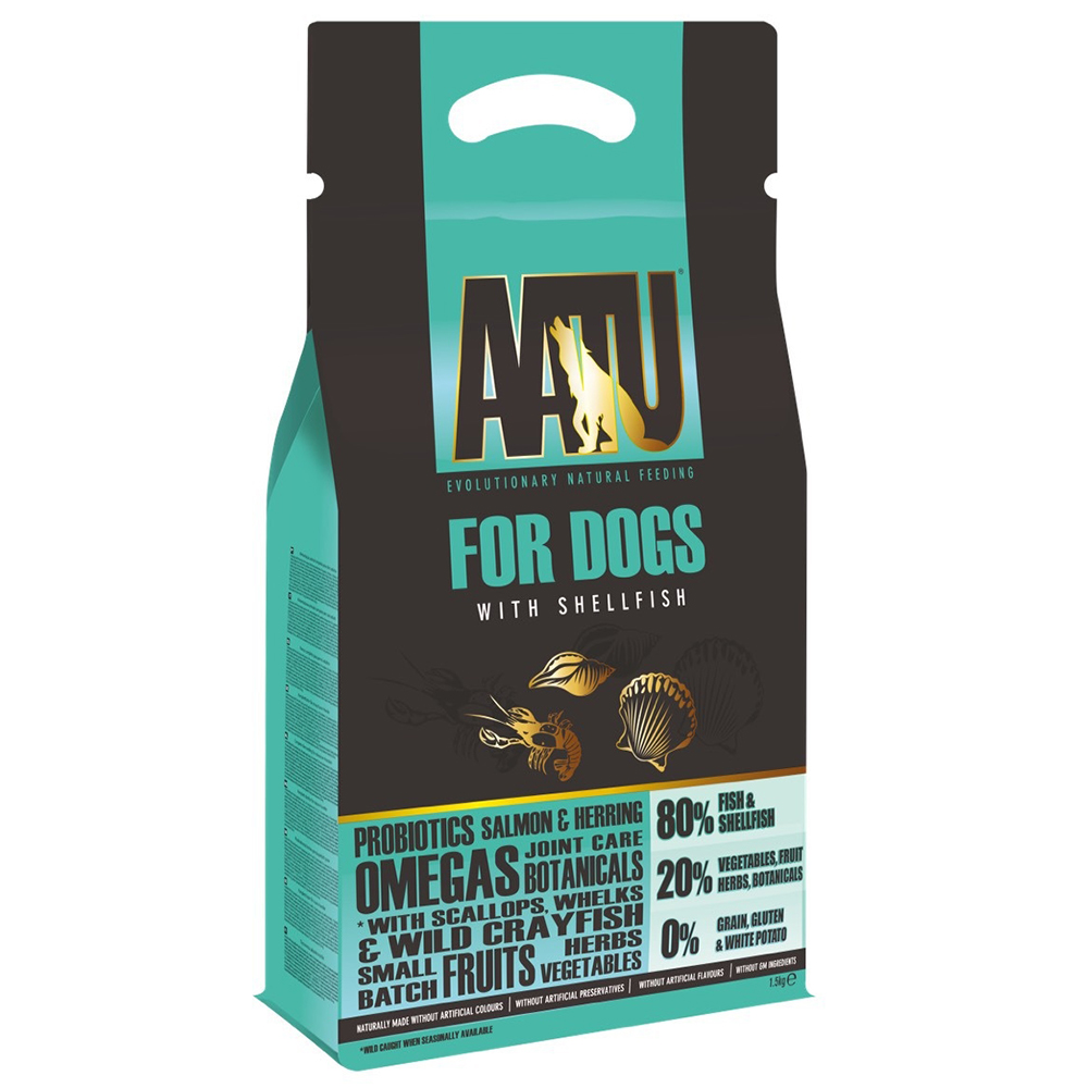 奧圖AATU超級8《嚴選海鮮總匯》低敏無穀挑嘴全齡犬糧1.5KG