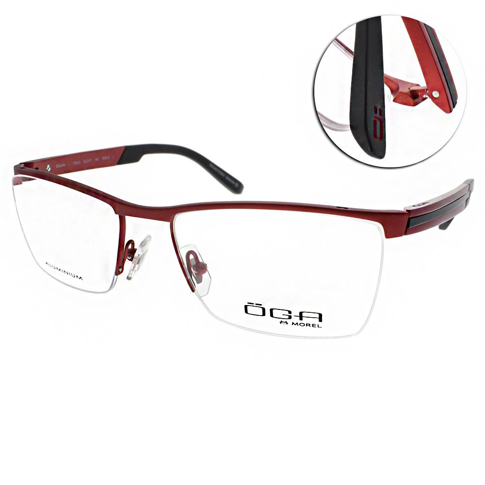 OGA眼鏡 法國頂級品牌/紅#OGA7761O RR013