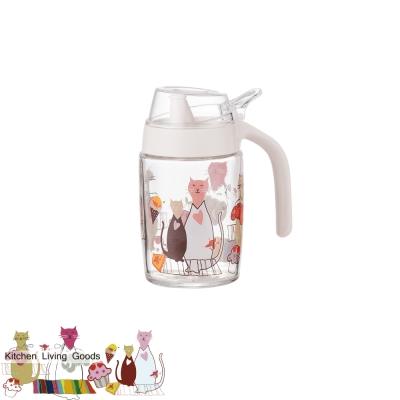 甜蜜貓玻璃油壺-250ml
