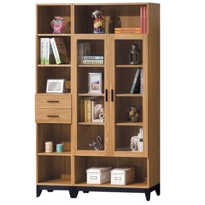 品家居 格瑞士4尺組合式書櫃-120.3x31.8x194.7cm-免組
