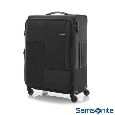 Samsonite新秀麗 25吋Cubix超輕量幾何四輪可擴充布面行李箱(黑)