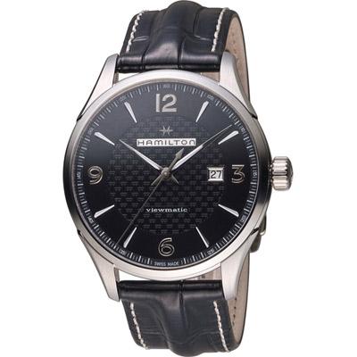 Hamilton 漢米爾頓 Jazzmaster 紳士自動上鍊機械錶-黑/44mm