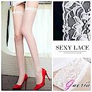(兩色選)【Gaoria】超薄寬蕾絲花邊 性感網眼鏤空 長筒絲襪 大腿襪 網襪