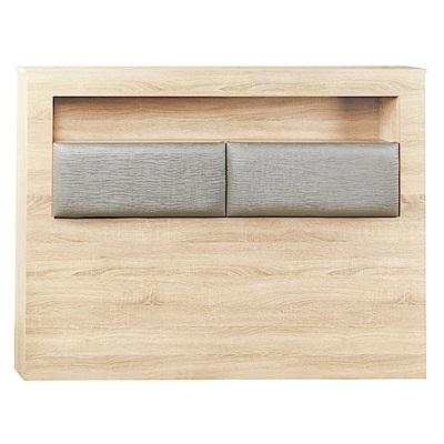 AS-麥爾斯5尺原切橡木床頭片-153x15x104.5cm