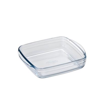ADERIA 日本進口方型微波玻璃烤盤(大)