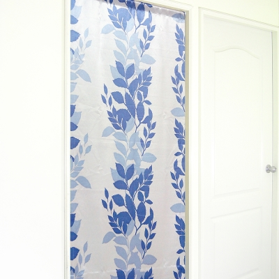布安於室-繁葉亮面遮光風水簾-藍色