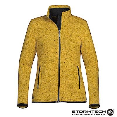 【加拿大STORMTECH】PMJ-1W立領針織刷毛保暖外套-女-芥末黃