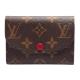 LV M41939 ROSALIE Monogram花紋信封式零錢包(紫紅色) product thumbnail 1