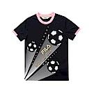 FILA KIDS 男童吸濕排汗上衣-黑1TES-4328-BK