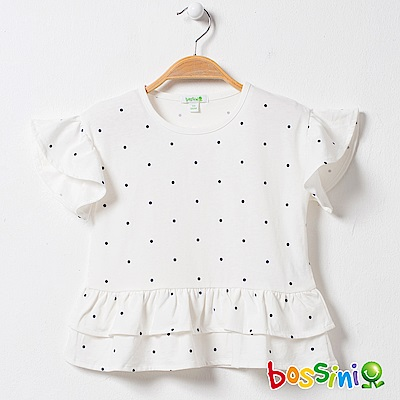 bossini女童-圓領短袖上衣05灰白