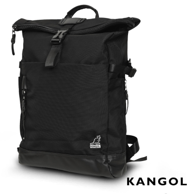 KANGOL 英式學院風大容量13吋筆電機能型後背包(黑)KG51159B