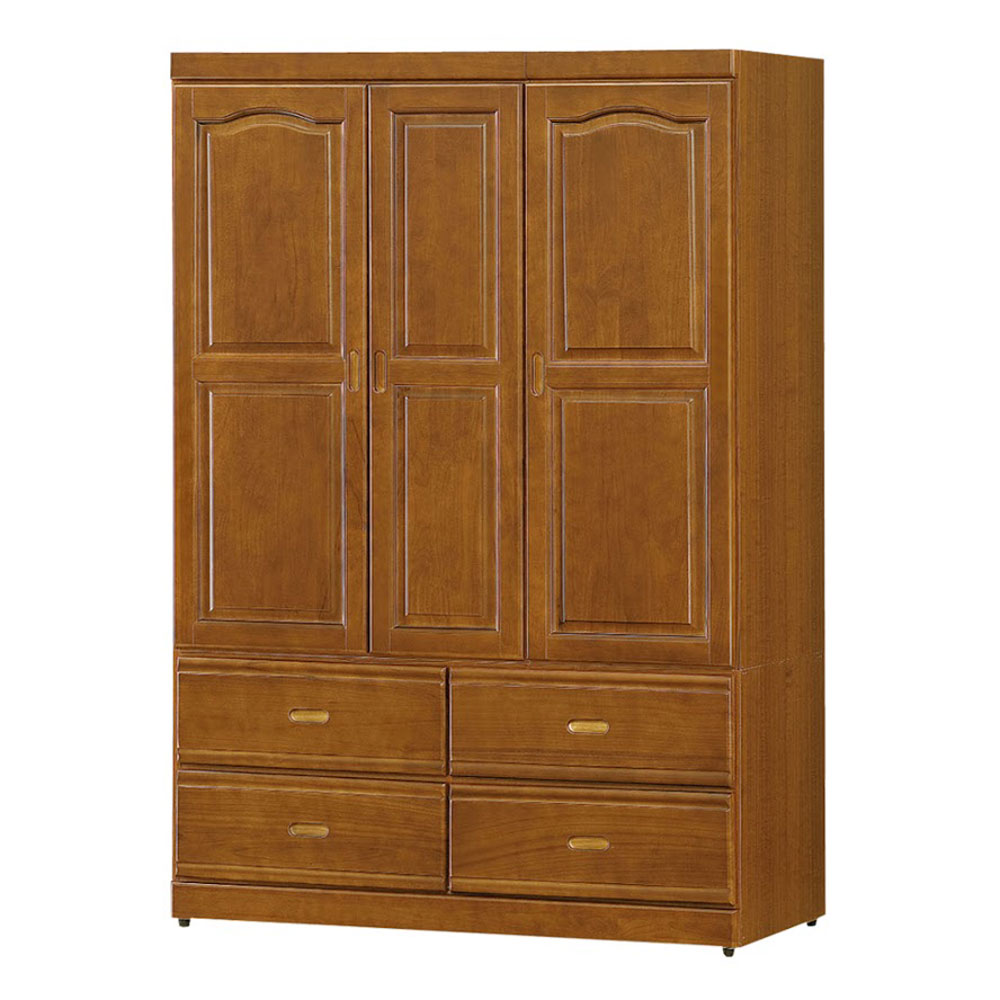 Bernice-紐松4尺衣櫃-兩色可選