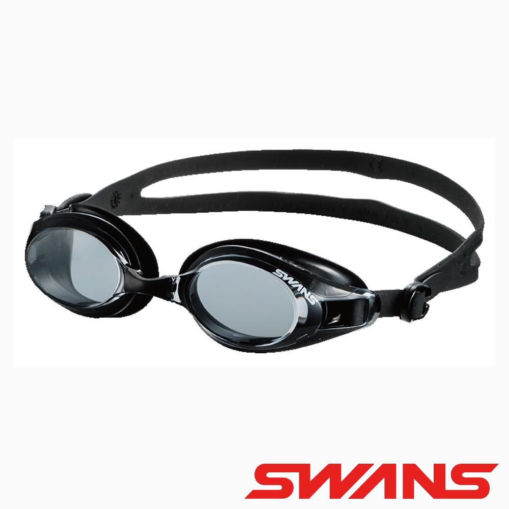 SWANS日本光學通用型泳鏡防霧抗UV SW-32灰黑