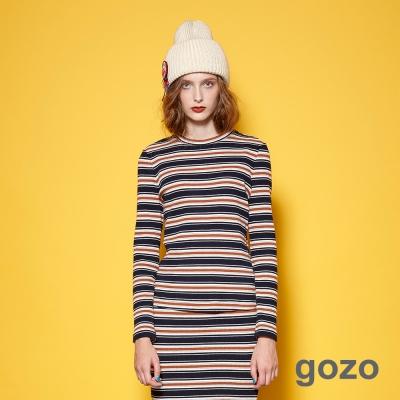 gozo 時髦條紋藝術家上衣 (二色)