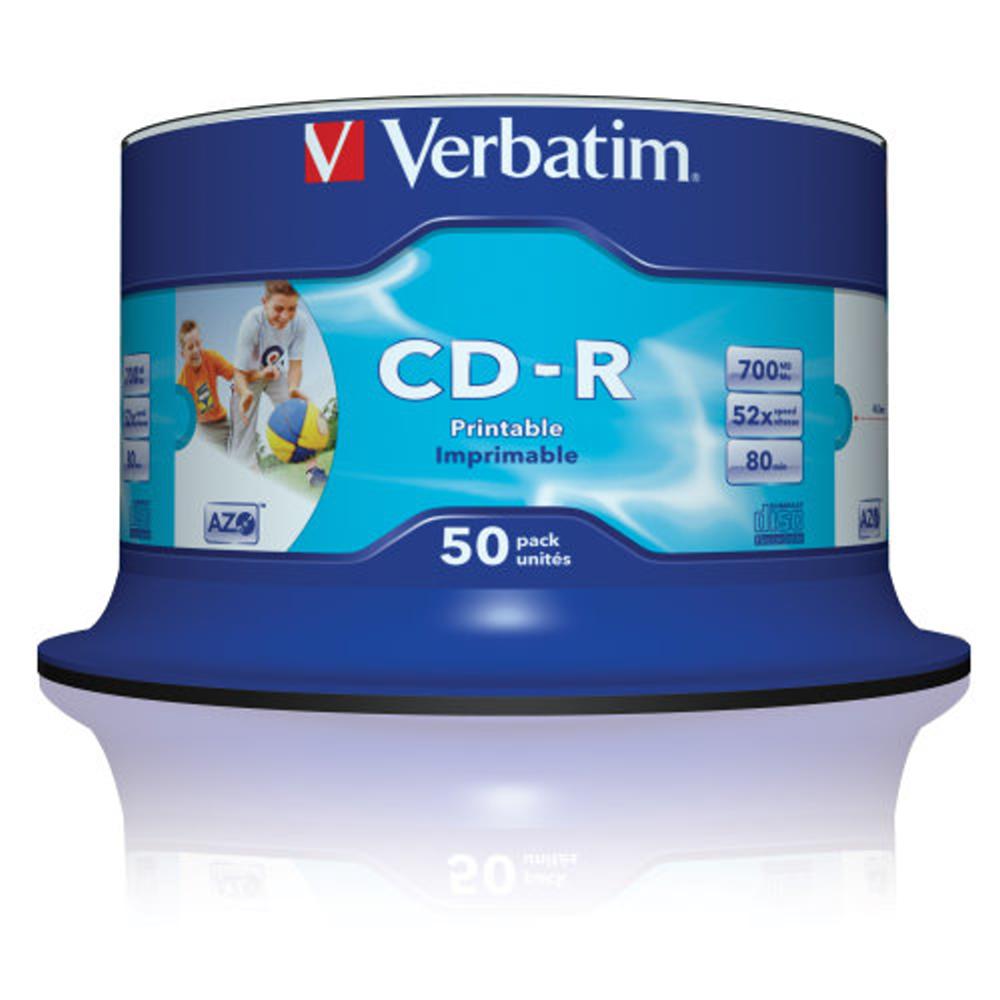 威寶 藍鳳凰 CD-R AZO 水藍片 珍珠白滿版可印 (50片)