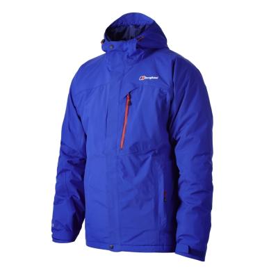 【Berghaus貝豪斯】男款GT防水保暖纖維外套H22M08-藍