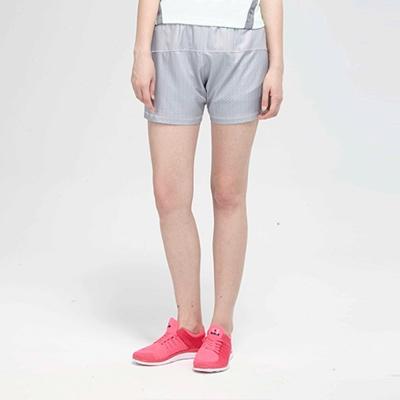 TOP-GIRL-純色鬆緊腰帶頭運動短褲-灰