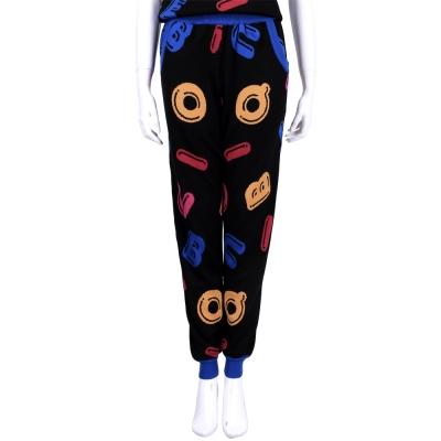 BOUTIQUE MOSCHINO 黑色字母設計羊毛針織長褲