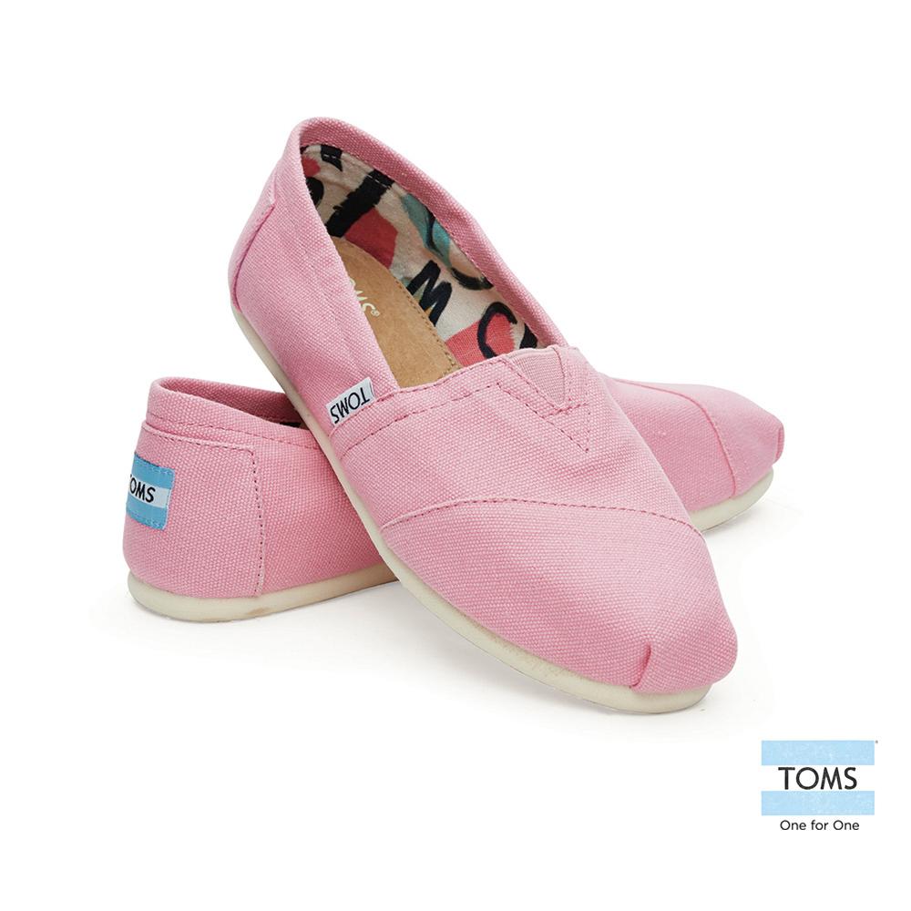 TOMS 經典帆布懶人鞋-女款(粉)
