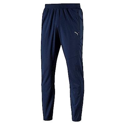PUMA-男性慢跑系列素面風褲-馬尾藻海藍-歐規