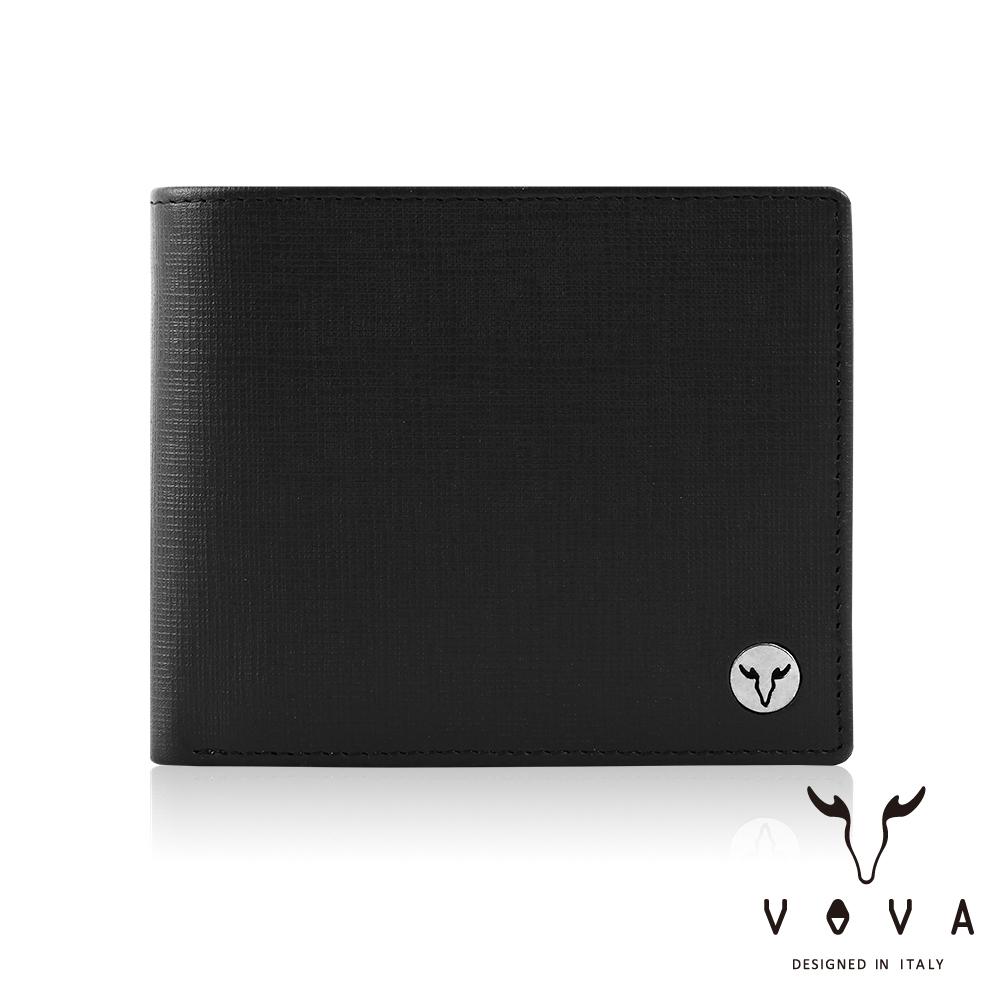 VOVA - 凱旋II系列8卡IV紋皮夾 - 摩登黑