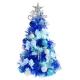 台製夢幻2尺(60cm)經典冰藍色聖誕樹(藍銀色系) product thumbnail 1