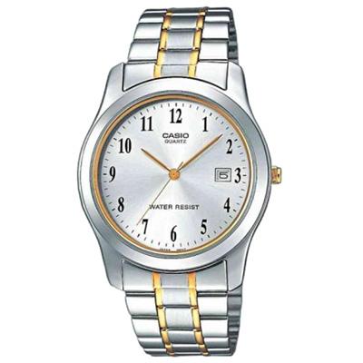 CASIO 世界富豪時尚指針紳士錶(MTP-1141G-7B)-銀灰面/38mm