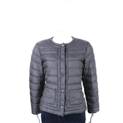 MARELLA-SPORT 深灰色車縫設計釦式羽絨外套