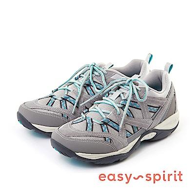 Easy Spirit--輕量休閒綁帶走路鞋款-淺灰藍